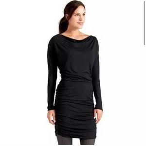 Athleta Solstice Long Sleeve Ruched Blouson Cowl Neck Women's Athleisure Dress M